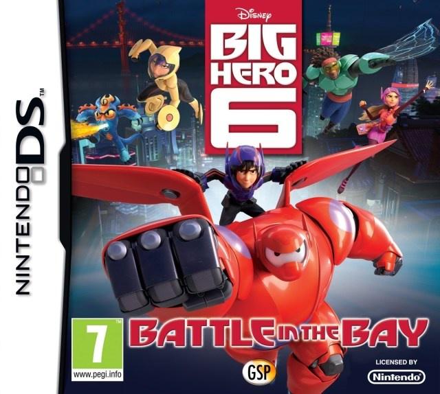 Face avant du boxart du jeu Disney Big Hero 6 - Battle in the Bay (Europe) sur Nintendo DS