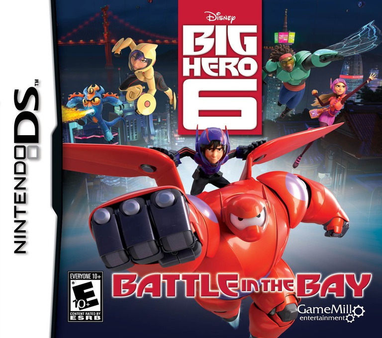 Face avant du boxart du jeu Disney Big Hero 6 - Battle in the Bay (Etats-Unis) sur Nintendo DS