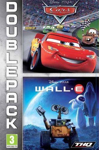 Face avant du boxart du jeu Double Pack - Cars + WALL-E (Europe) sur Sony PSP
