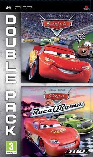 Face avant du boxart du jeu Double Pack - Cars + Cars - Race-O-Rama (Europe) sur Sony PSP