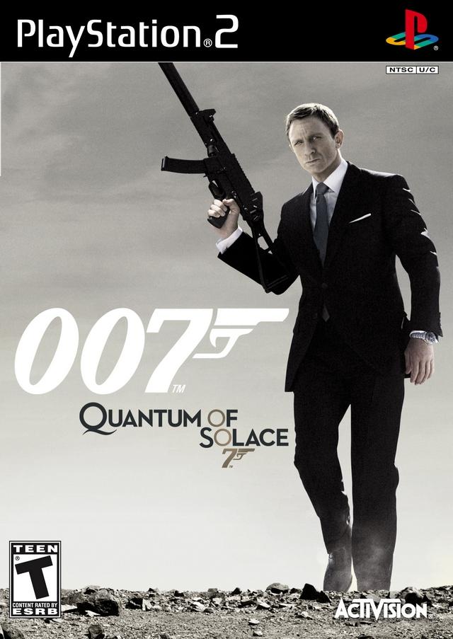 Face avant du boxart du jeu 007 - Quantum of Solace (Etats-Unis) sur Sony Playstation 2