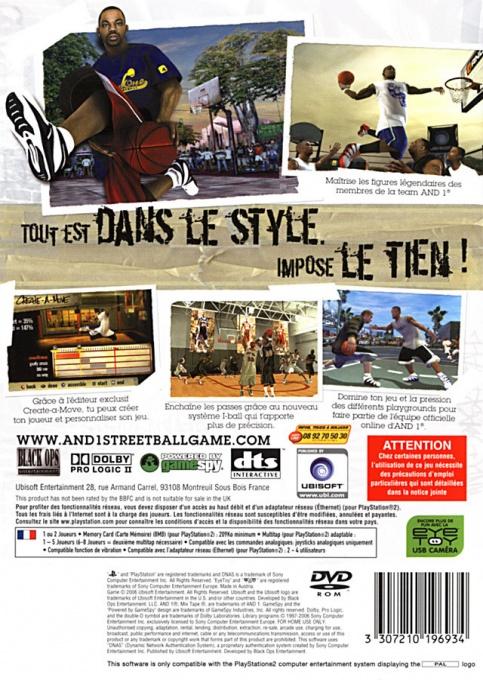 Face arriere du boxart du jeu A-Train 6 (France) sur Sony Playstation 2