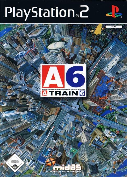 Face avant du boxart du jeu A-Train 6 (Allemagne) sur Sony Playstation 2