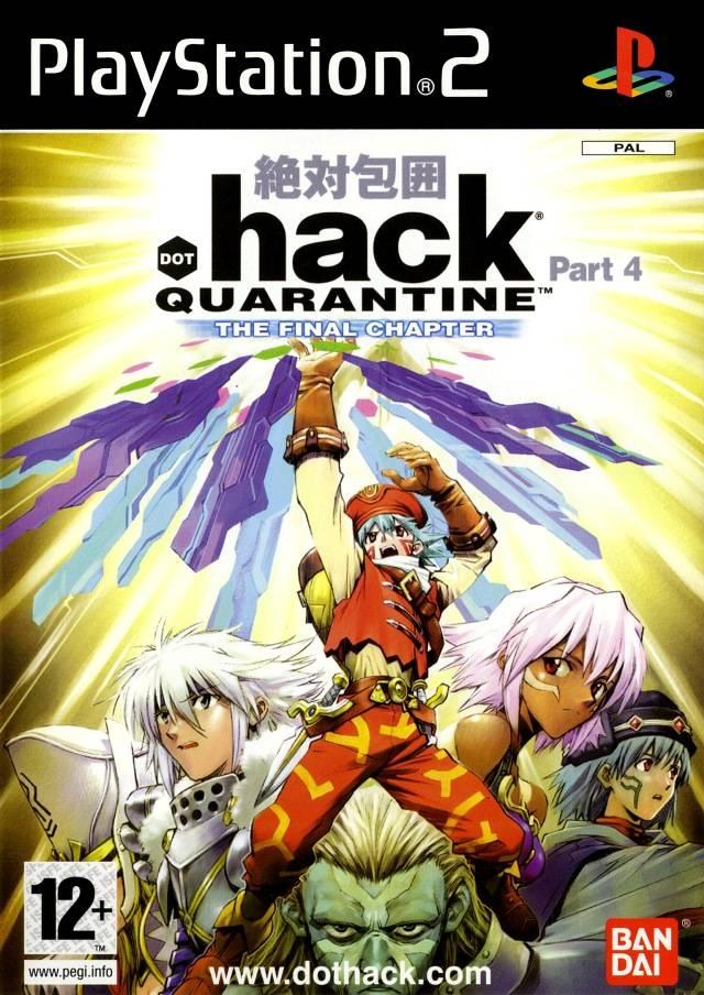 Face avant du boxart du jeu .hack//Quarantine Part 4 (Europe) sur Sony Playstation 2
