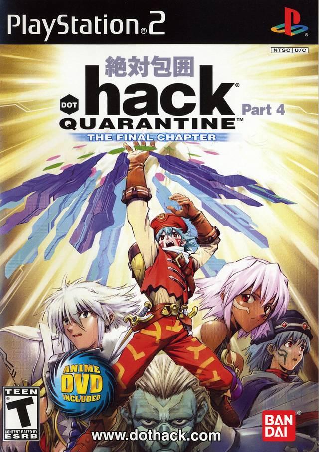 Face avant du boxart du jeu .hack//Quarantine Part 4 (Etats-Unis) sur Sony Playstation 2