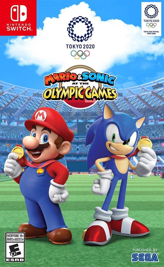 Face avant du boxart du jeu Mario & Sonic at the Olympic Games - Tokyo 2020 (Etats-Unis) sur Switch