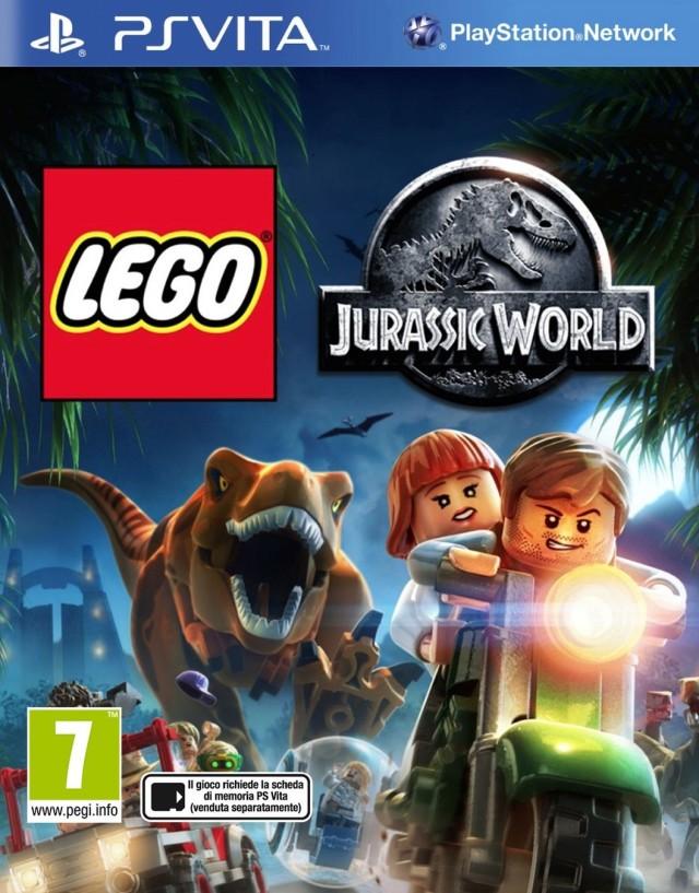 Face avant du boxart du jeu LEGO Jurassic World (Europe) sur Sony PS Vita