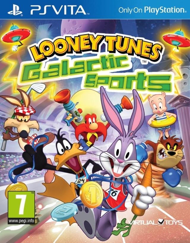 Face avant du boxart du jeu Looney Tunes - Galactic Sports (Europe) sur Sony PS Vita
