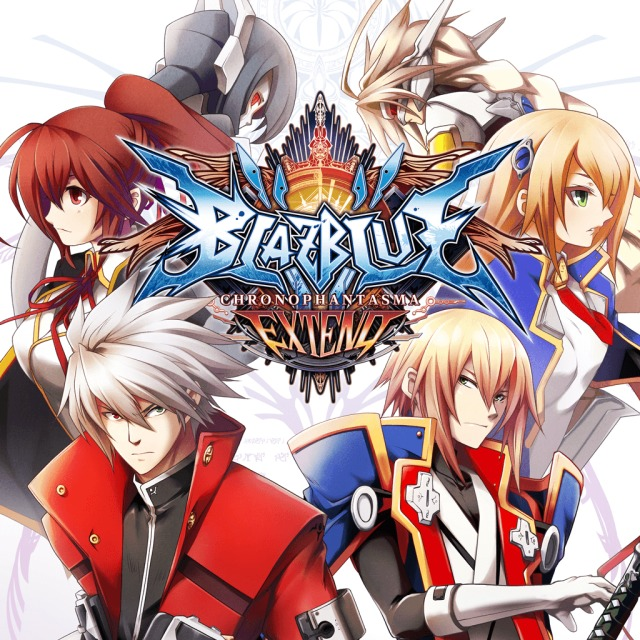 Face avant du boxart du jeu BlazBlue - Chrono Phantasma Extend (Australie) sur Sony PS Vita