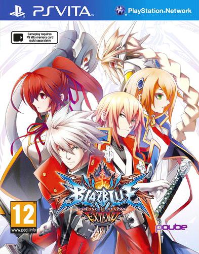 Face avant du boxart du jeu BlazBlue - Chrono Phantasma Extend (Europe) sur Sony PS Vita