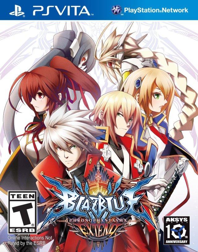 Face avant du boxart du jeu BlazBlue - Chrono Phantasma Extend (Etats-Unis) sur Sony PS Vita