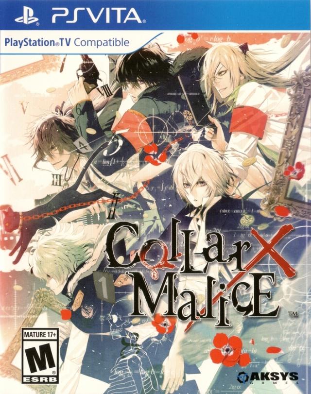 Face avant du boxart du jeu Collar x Malice (Etats-Unis) sur Sony PS Vita