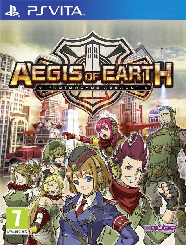 Face avant du boxart du jeu Aegis of Earth - Protonovus Assault (Europe) sur Sony PS Vita