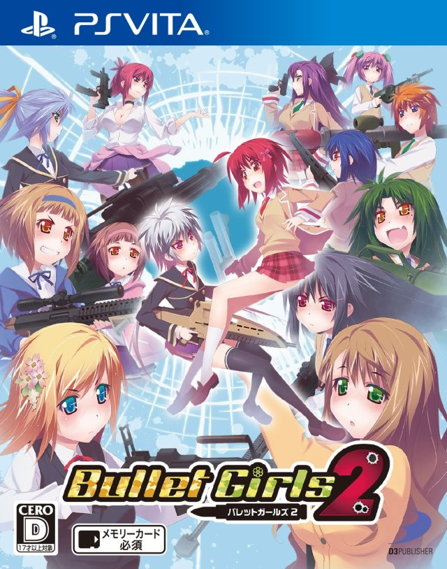 Face avant du boxart du jeu Bullet Girls 2 (Japon) sur Sony PS Vita