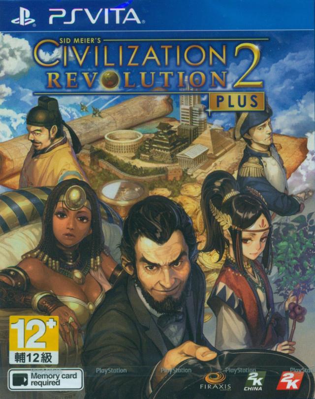 Face avant du boxart du jeu Sid Meier's Civilization Revolution 2+ (Asie) sur Sony PS Vita