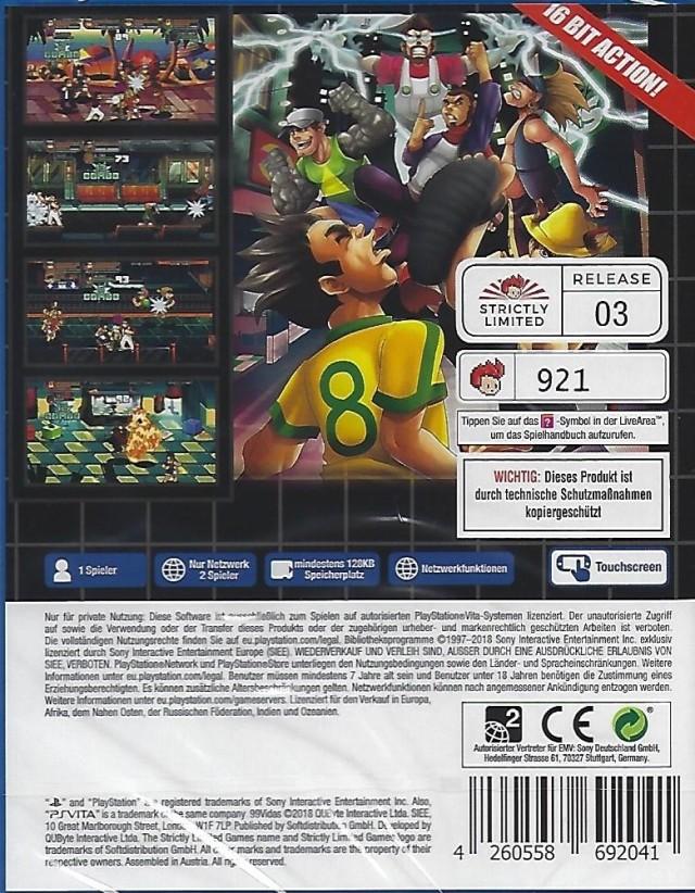 Face arriere du boxart du jeu 99Vidas (Europe) sur Sony PS Vita