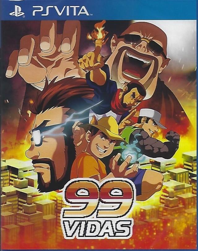 Face avant du boxart du jeu 99Vidas (Europe) sur Sony PS Vita