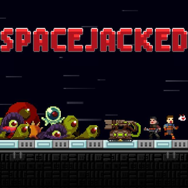 Face avant du boxart du jeu Spacejacked (Europe) sur Sony PS Vita
