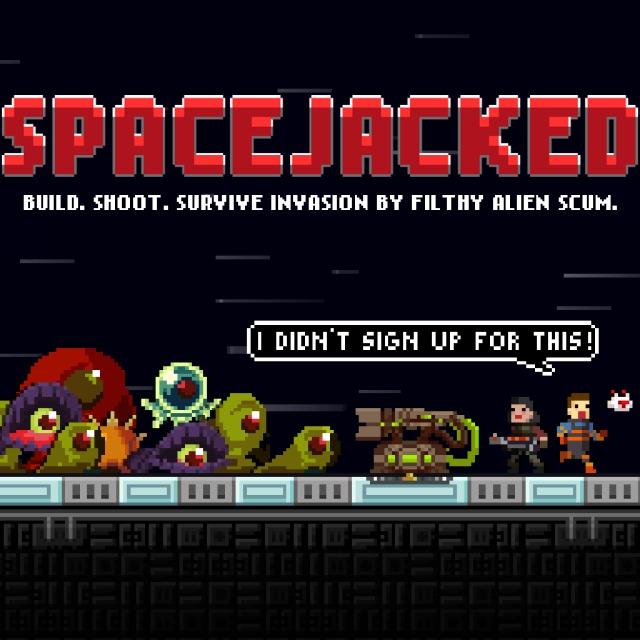Face avant du boxart du jeu Spacejacked (Etats-Unis) sur Sony PS Vita