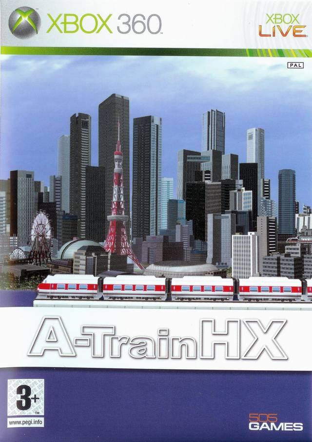 Face avant du boxart du jeu A-Train HX (Europe) sur Microsoft Xbox 360