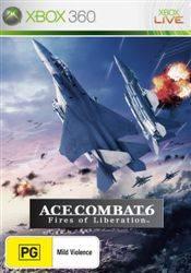 Face avant du boxart du jeu Ace Combat 6 - Fires of Liberation (Australie) sur Microsoft Xbox 360
