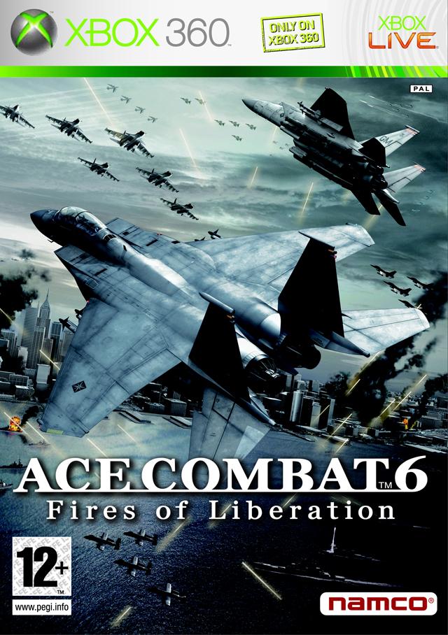 Face avant du boxart du jeu Ace Combat 6 - Fires of Liberation (Europe) sur Microsoft Xbox 360
