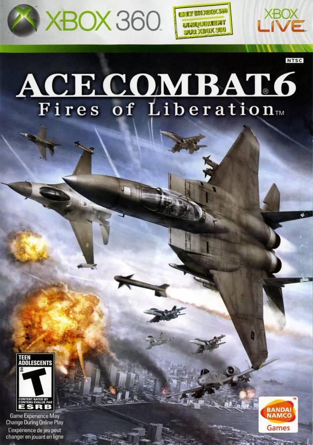 Face avant du boxart du jeu Ace Combat 6 - Fires of Liberation (Etats-Unis) sur Microsoft Xbox 360