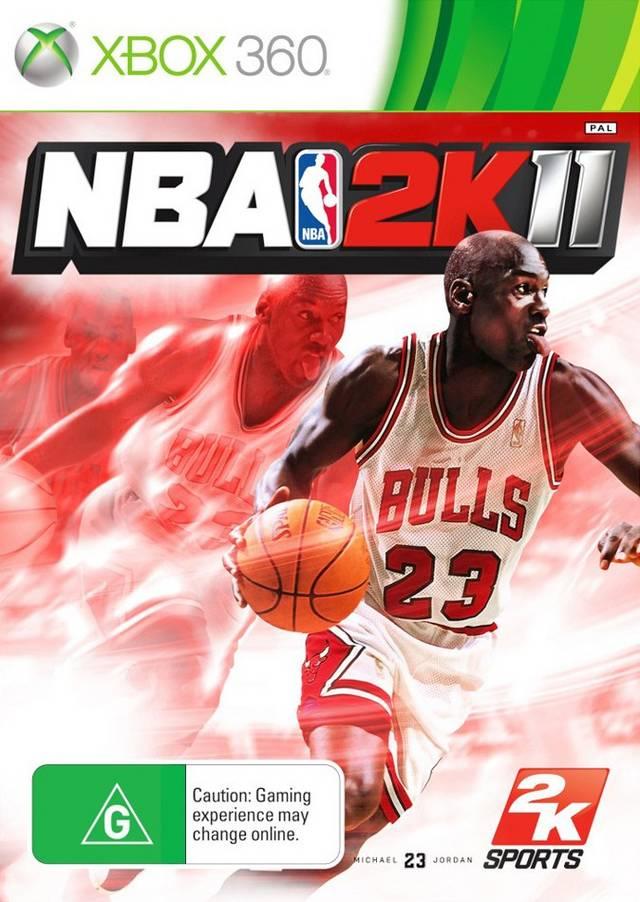Face avant du boxart du jeu NBA 2K11 (Australie) sur Microsoft Xbox 360