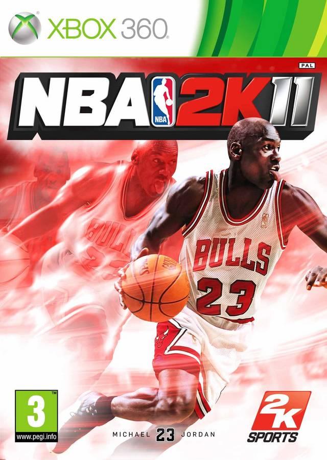 Face avant du boxart du jeu NBA 2K11 (Europe) sur Microsoft Xbox 360