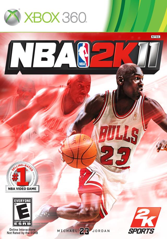 Face avant du boxart du jeu NBA 2K11 (Etats-Unis) sur Microsoft Xbox 360