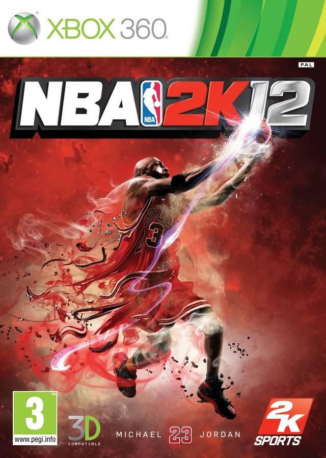 Face avant du boxart du jeu NBA 2K12 (Europe) sur Microsoft Xbox 360