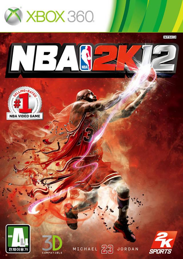 Face avant du boxart du jeu NBA 2K12 (Corée du sud) sur Microsoft Xbox 360