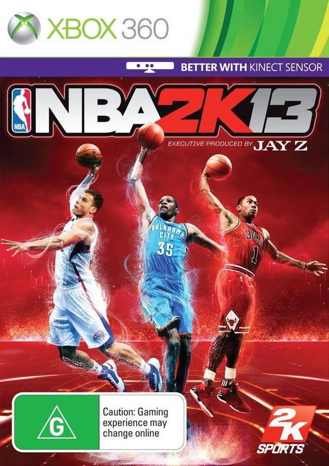 Face avant du boxart du jeu NBA 2K13 (Australie) sur Microsoft Xbox 360