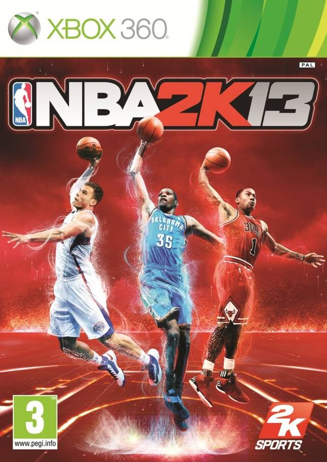 Face avant du boxart du jeu NBA 2K13 (Europe) sur Microsoft Xbox 360