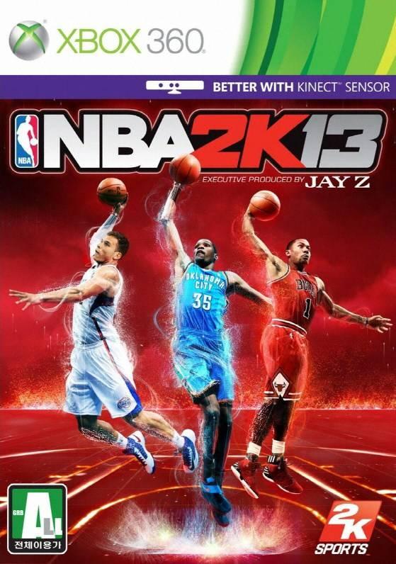 Face avant du boxart du jeu NBA 2K13 (Corée du sud) sur Microsoft Xbox 360