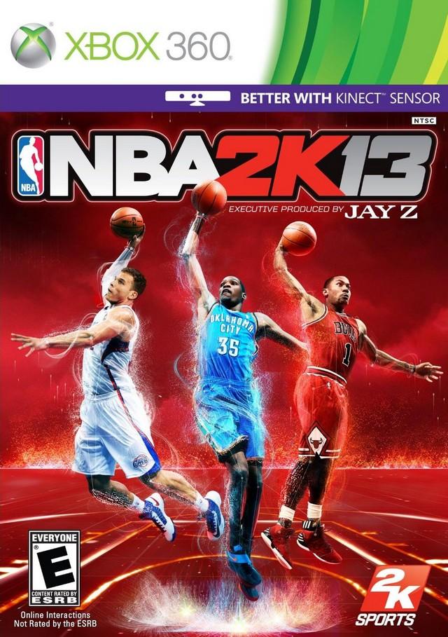 Face avant du boxart du jeu NBA 2K13 (Etats-Unis) sur Microsoft Xbox 360