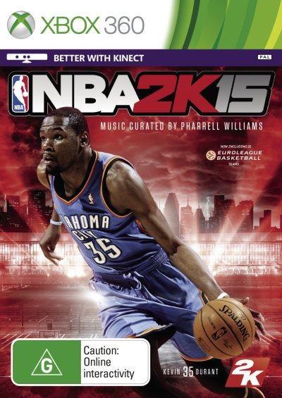 Face avant du boxart du jeu NBA 2K15 (Australie) sur Microsoft Xbox 360