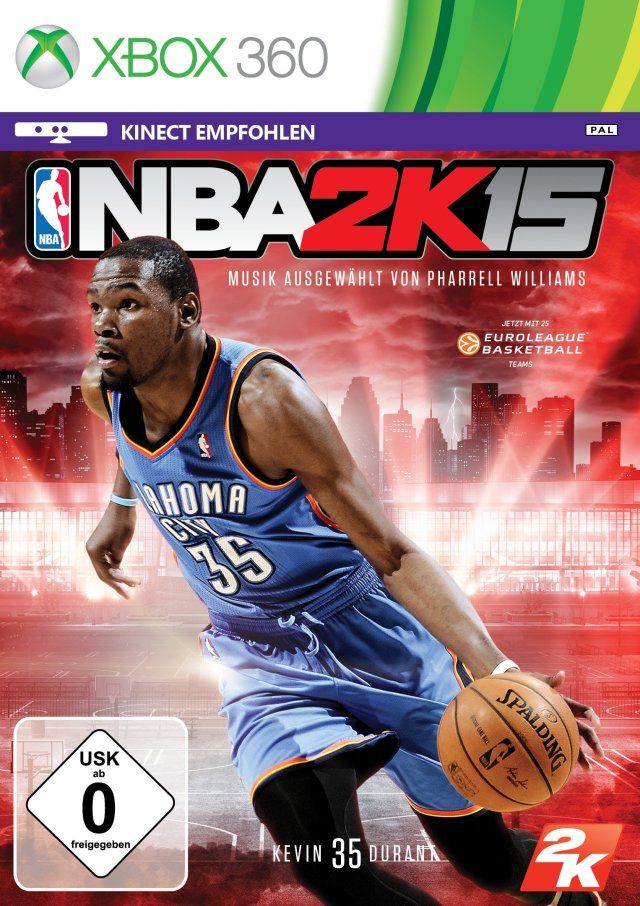 Face avant du boxart du jeu NBA 2K15 (Europe) sur Microsoft Xbox 360