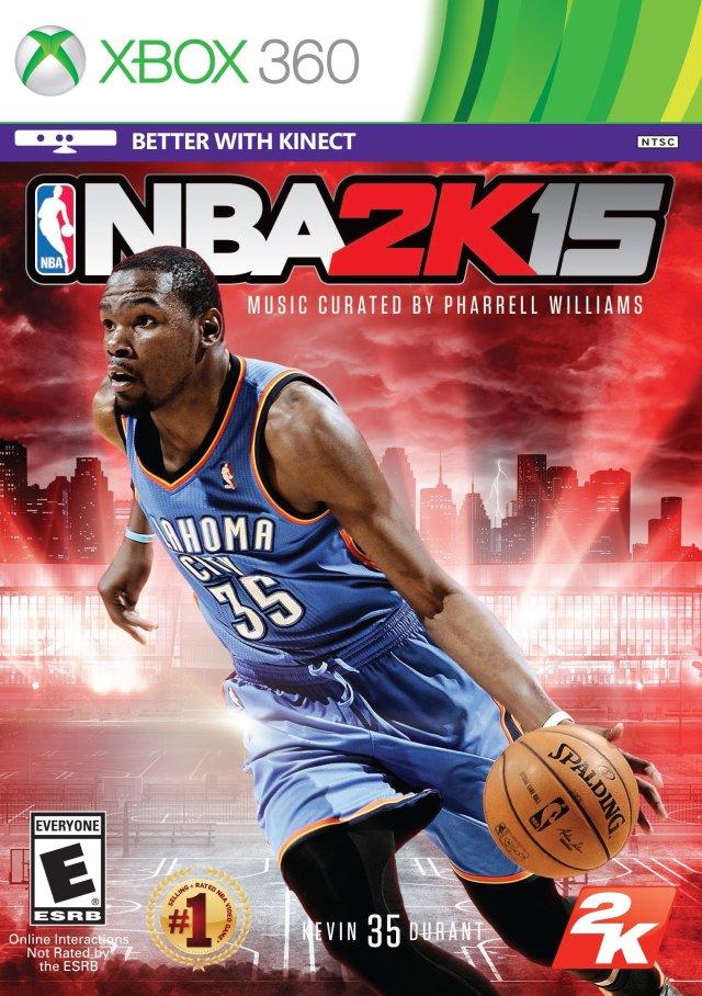 Face avant du boxart du jeu NBA 2K15 (Etats-Unis) sur Microsoft Xbox 360