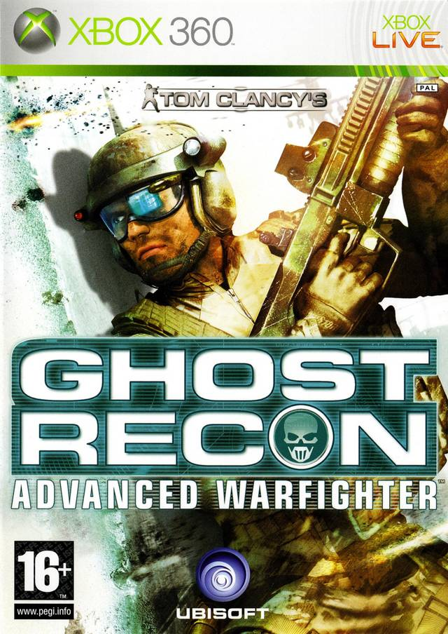 Face avant du boxart du jeu Tom Clancy's Ghost Recon Advanced Warfighter (Europe) sur Microsoft Xbox 360