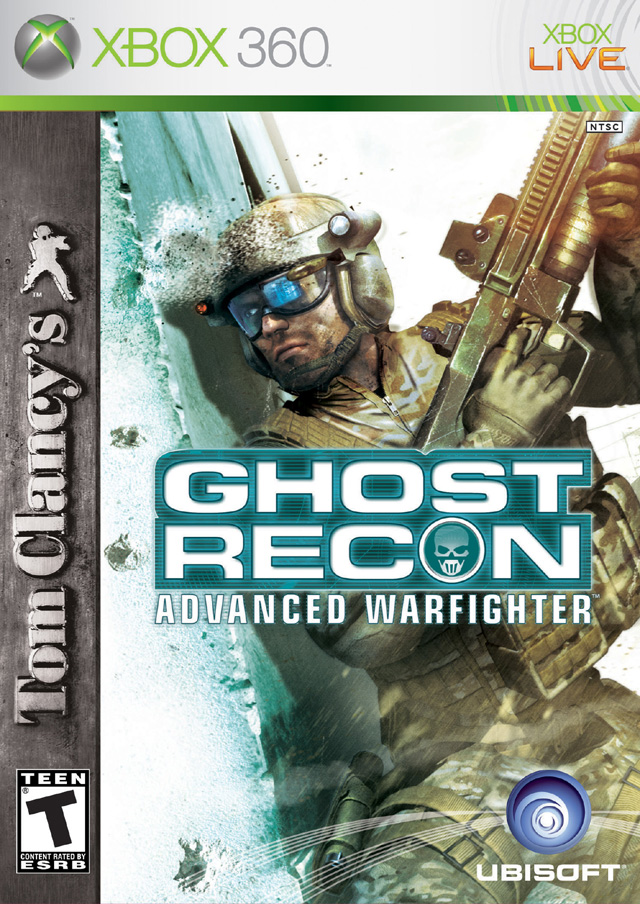Face avant du boxart du jeu Tom Clancy's Ghost Recon Advanced Warfighter (Etats-Unis) sur Microsoft Xbox 360