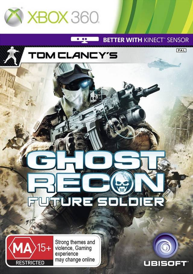 Face avant du boxart du jeu Tom Clancy's Ghost Recon - Future Soldier (Australie) sur Microsoft Xbox 360