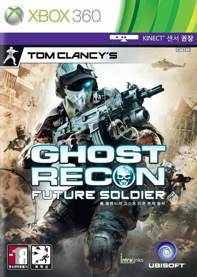 Face avant du boxart du jeu Tom Clancy's Ghost Recon - Future Soldier (Corée du sud) sur Microsoft Xbox 360