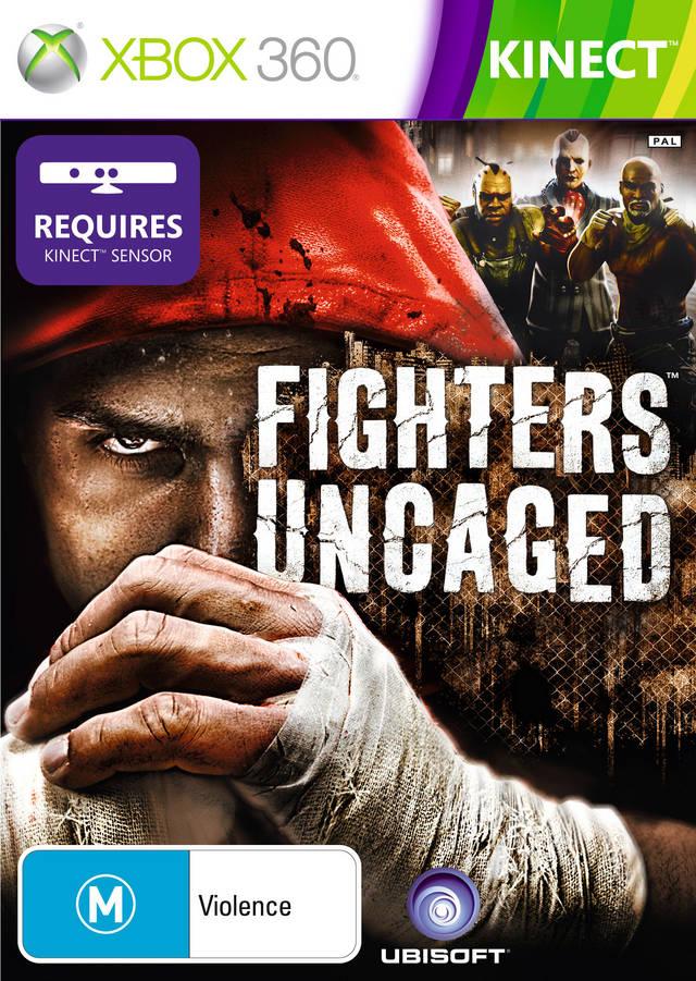 Face avant du boxart du jeu Fighters Uncaged (Australie) sur Microsoft Xbox 360