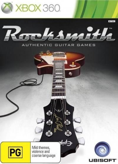 Face avant du boxart du jeu Rocksmith (Australie) sur Microsoft Xbox 360