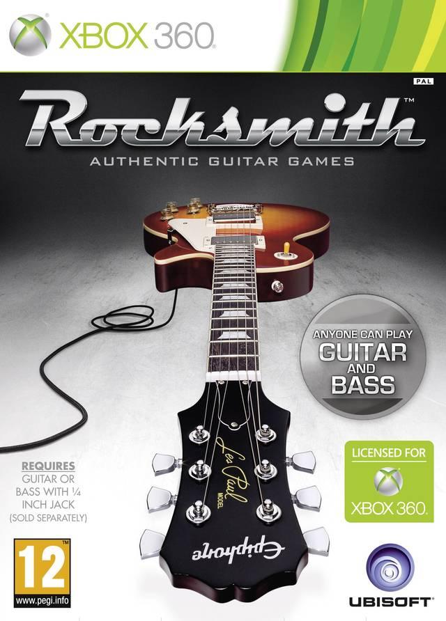 Face avant du boxart du jeu Rocksmith (Europe) sur Microsoft Xbox 360