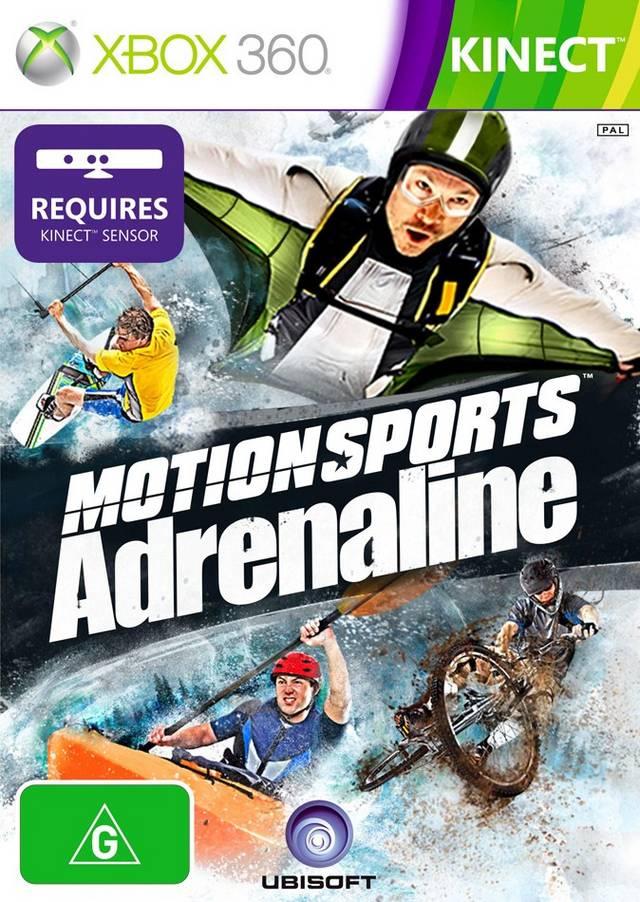 Face avant du boxart du jeu MotionSports Adrenaline (Australie) sur Microsoft Xbox 360