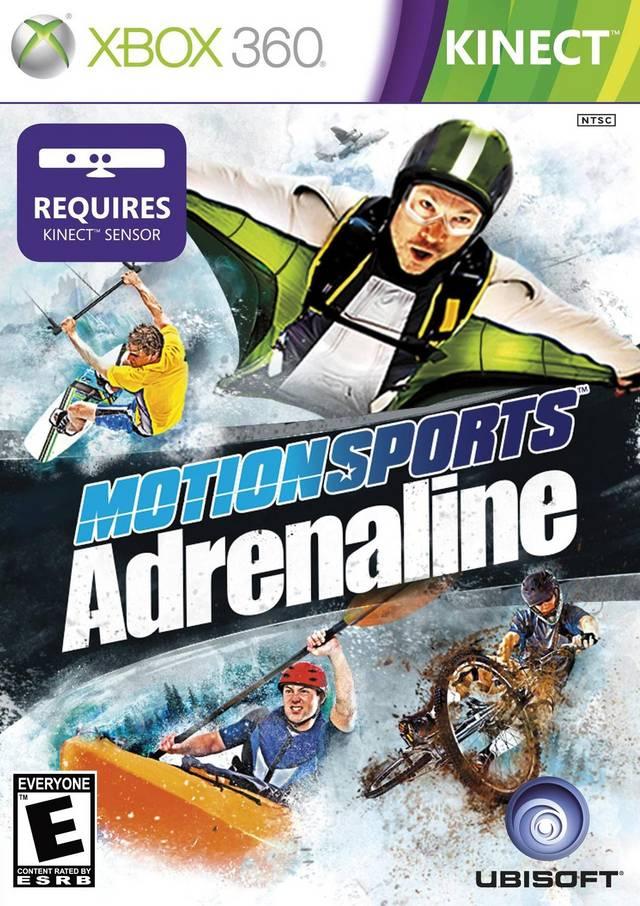 Face avant du boxart du jeu MotionSports Adrenaline (Etats-Unis) sur Microsoft Xbox 360