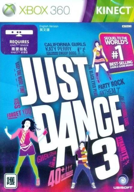 Face avant du boxart du jeu Just Dance 3 (Asie) sur Microsoft Xbox 360