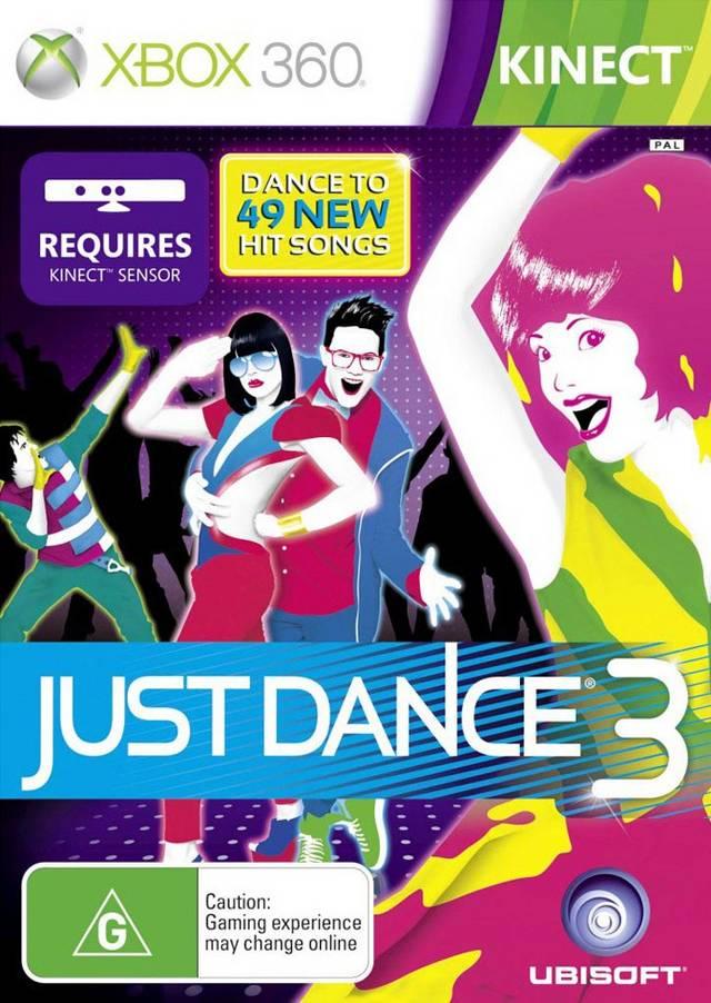 Face avant du boxart du jeu Just Dance 3 (Australie) sur Microsoft Xbox 360